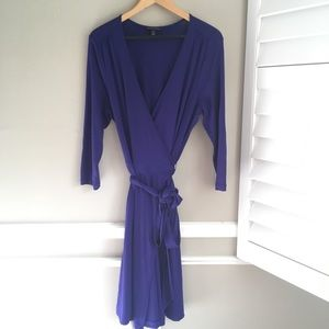 Banana Republic Wrap Dress Size Large Stretch
